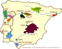 Wine Tourism in Iberia: Where to Go: Spain and Portugal Wine Regions Map