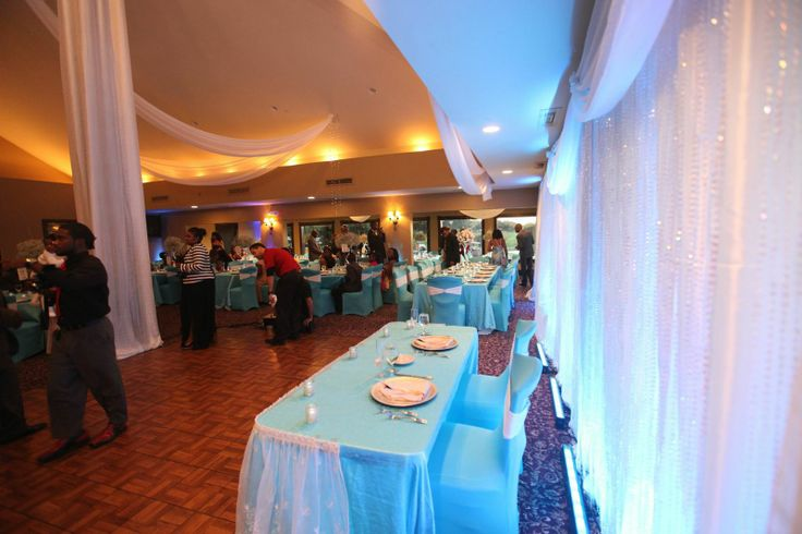 LED Bar Lights give the Draping that special blue look