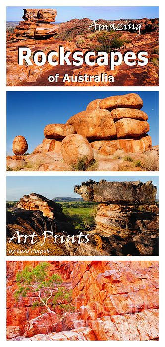 AMAZING Rockscapes of Australia. Over millions of years, nature has compressed and worn tiny particles of earth and minerals  to create incredible rockscapes - of colours and formations to be amazed. al benefits to humanity. Visit my gallery to see its wonders. Timless rock formations, wetlands, waterfalls, ancient rock art. Visit my gallery to see more wonders. Available in Art Prints, acrylic, framed, metal prints and home decore products.