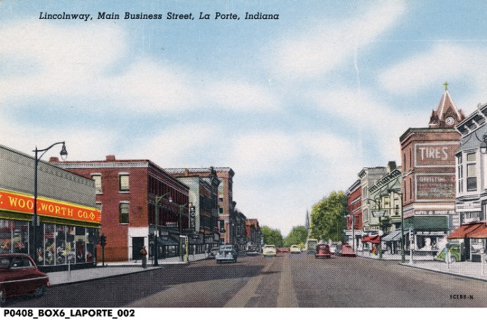 Lincoln road runs through downtown la porte lincolnway for Population of laporte indiana