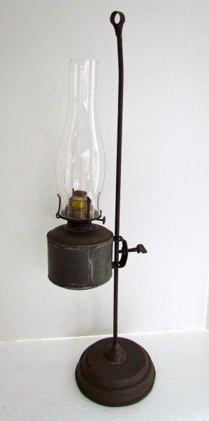 adjustable kerosene lamp   Art Antiques Michigan
