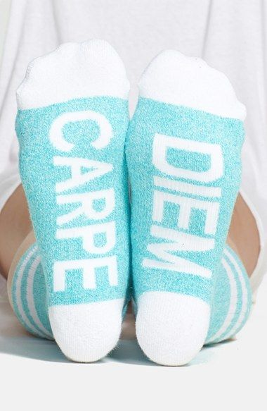 'Carpe Diem' Socks make a cute stocking stuffer