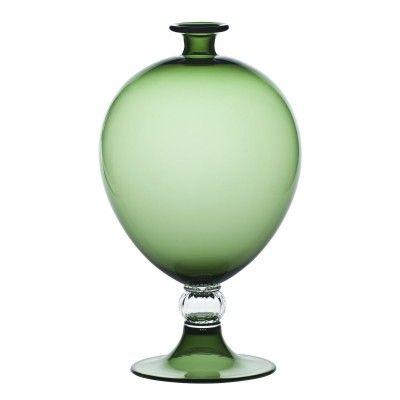Vaso Veronese in vetro di Murano color verde mela, Venini. Bellissimo…