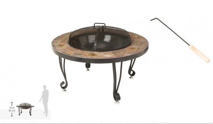 Fire Pit Natural Stone Outdoor  Heater Fireplace Backyard Relaxation Fire Tool  #FirePitNaturalStone, #fire,#pit,#garden,#yard,#patio,#set,#bbq,#outdoor,#wood,#burning,#bowl,#screen,#protector