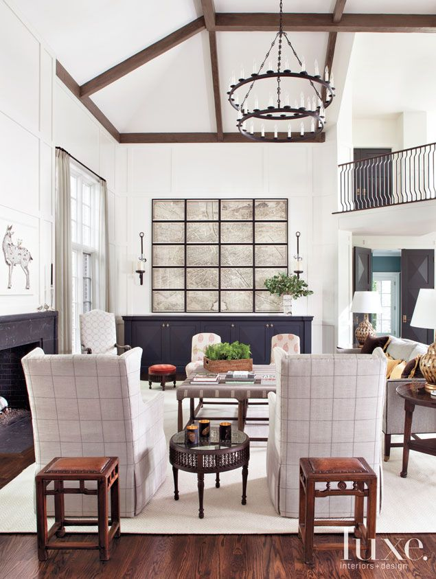 Living Room Feature Wall Decor: Pin By Luxe Interiors + Design Magazine On Luxe