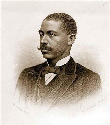 """Engraving of George Washington Williams that appeared in the first edition of Williams' """"History of the Negro Race From 1619 to 1880,"""" which was published in 1883. Description from post-gazette.com. I searched for this on bing.com/images"""