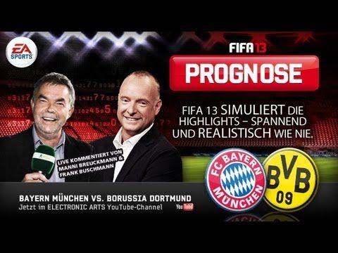 Es ist das vorweggenommene Finale: Der FC Bayern München empfängt im Viertelfinale des Pokals Borussia Dortmund. Das Duell Rekordmeister gegen Deutscher Meister beherrscht den deutschen Fußball in den letzten Jahren wie kein anderes. Wir sagen euch mit FIFA 13 und dem Live-Kommentar von Frank Buschmann, wie das Spiel ausgeht!