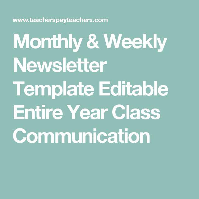 Beste Ideen Over Weekly Newsletter Template Op