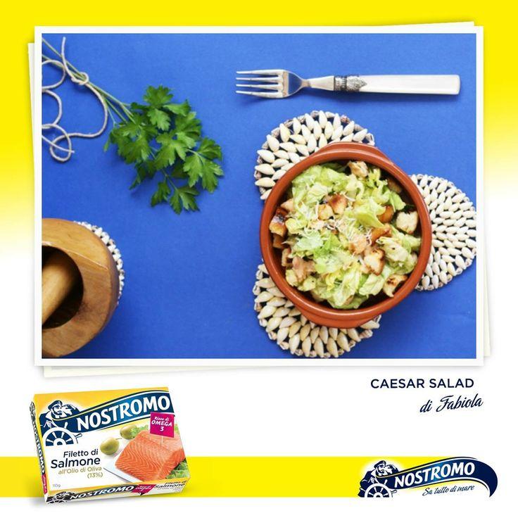 Amici del Nostromo, pronti per una nuova ricetta della nostra blogger Fabiola di Olio & Aceto? Questa sera vi deliziamo con una CAESAR SALAD con salmone grigliato e miele.  Scoprite come prepararla anche voi: http://www.olioeacetoblog.com/2013/06/caesar-salad-per-mtc-di-giugno.html  Seguite il Nostromo per le altre ricette: https://www.facebook.com/media/set/?set=a.396219537093414.144617.381585958556772&type=3   #salmone #salad #recipe #ricetta