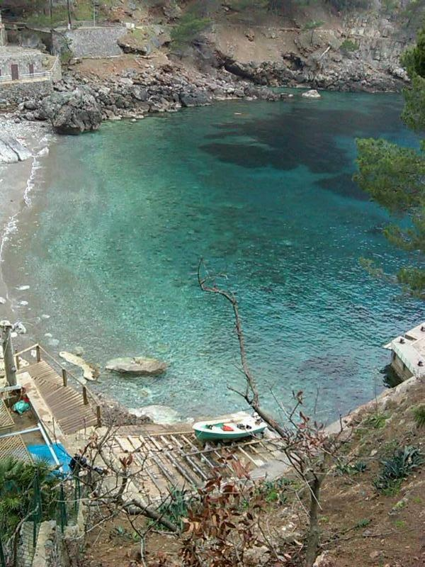 Deia, in Mallorca! I have been there for lunch..near the boat ramp there is a restaurant..lovely!