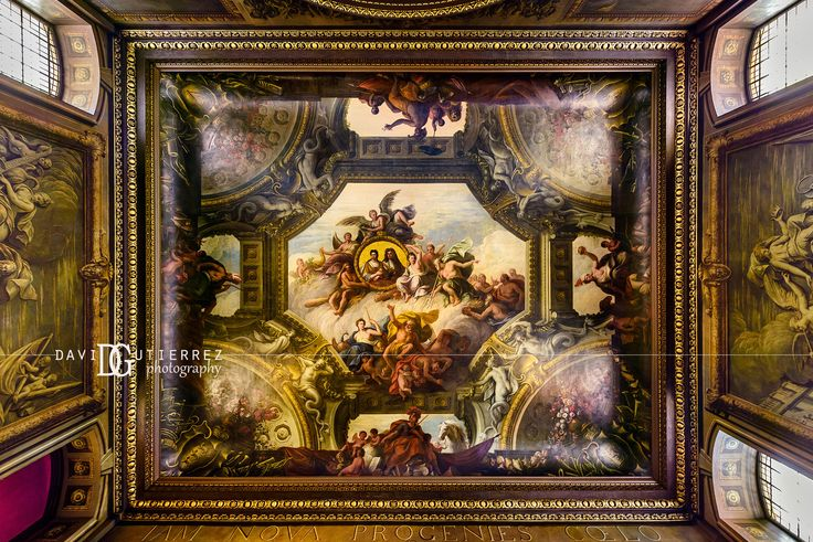 Painted Hall, Old Royal Naval College (II), Greenwich, London, UK. Image by David Gutierrez Photography, London Photographer. London photographer specialising in architectural, real estate, property and interior photography. http://www.davidgutierrez.co.uk #realestate #property #commercial #architecture #London #Photography #Photographer #Art #UK #City #Urban #Beautiful #Interior #Arts #Cityscape #Travel #Building #Interiors #Indoor #Greenwich #PaintedHall