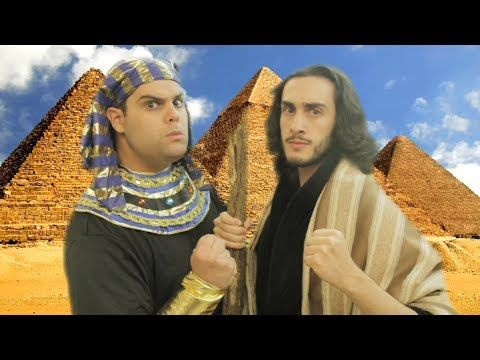 "A Passover parody of the ""Let It Go"" song from the Disney movie, ""Frozen,"" made famous by the performance of Idina Menzel. Our version, ""Let Us Go,"" is performed by Moses and Pharaoh."