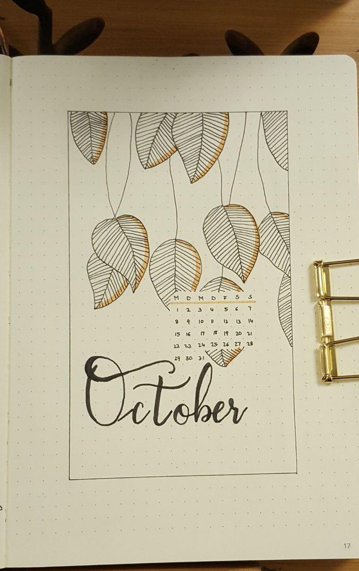 Bujo October month cover page #bujo #bulletjournal #coverpage