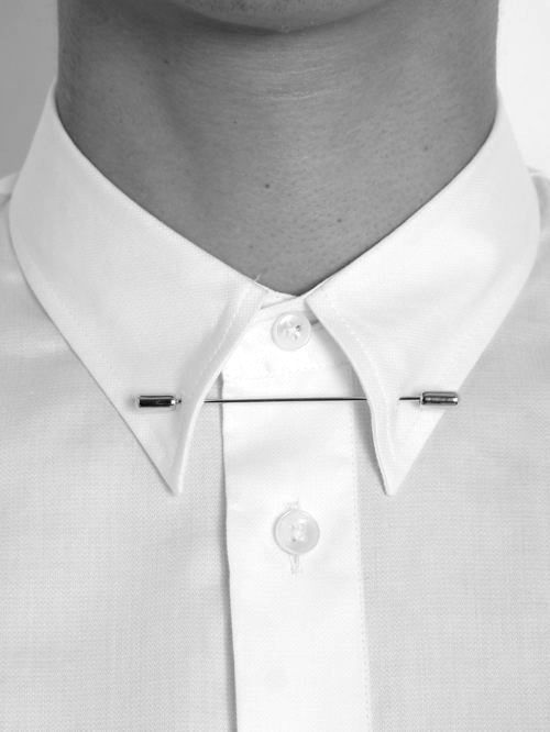 something a little different, collar pin. #menstyle #fashion