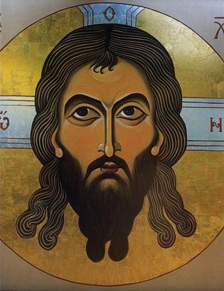 Fresco [Wall painting] of Holy Mandylion of Jesus Christ [Image of Edessa]  painted by Marchela Dimitrova