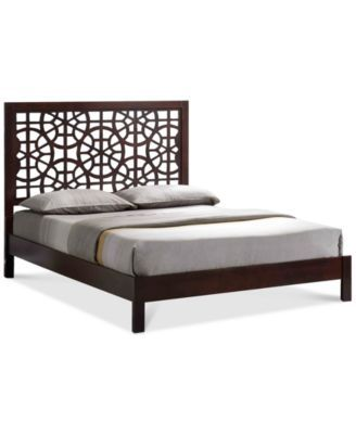 hurly modern contemporary wooden queen platform bed frame direct ship - Wooden Queen Bed Frame