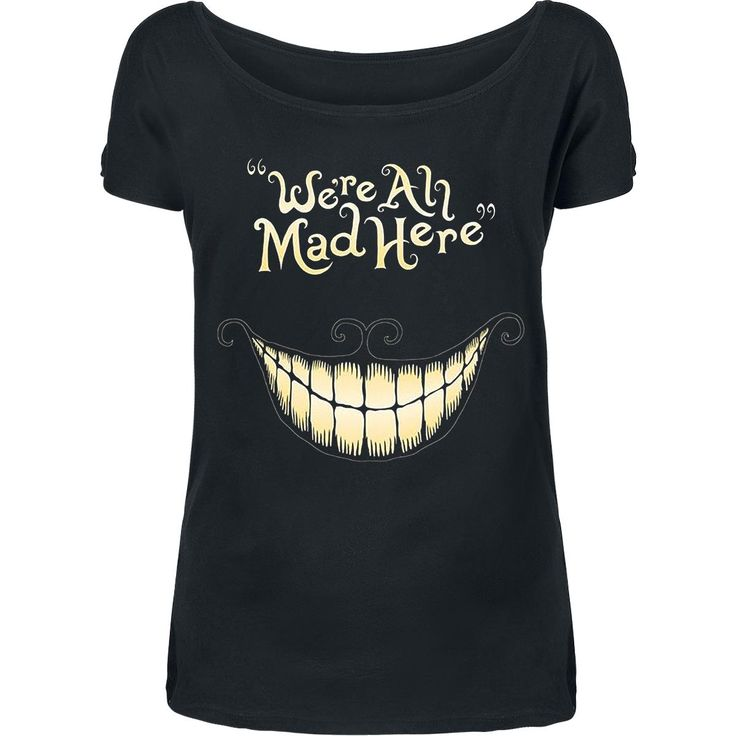 "Walt Disney T-shirt, Damer ""Alice I Eventyrland - Mad Mouth"" sort • EMP"