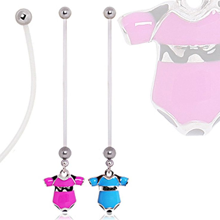 BioFlex Baby Onesie Pregnancy Navel Ring #BellyRing #PregnancyBellyRing #BodyMod #BodyModification #Piercings