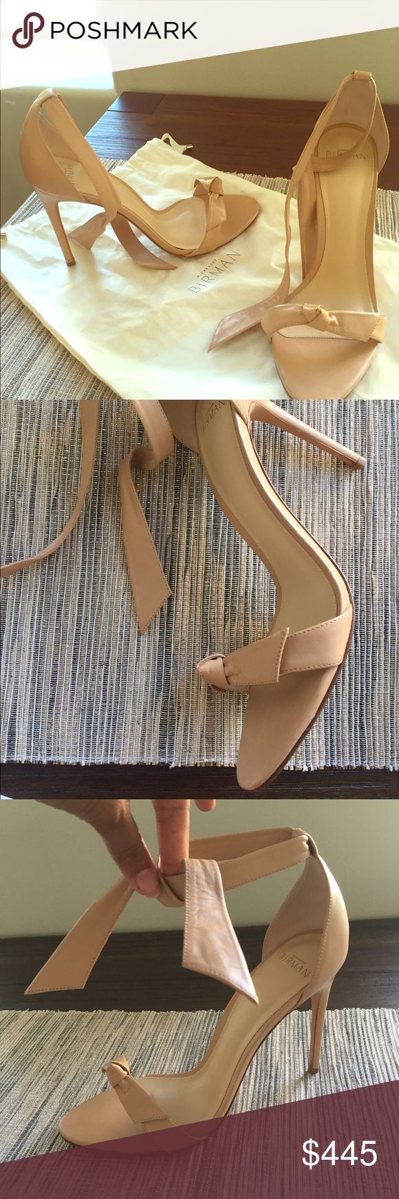 Alexandre Birman sexy nude heeled sandal!! Super beautiful shoes only worn twice! In amazing condition! Has dust cover but no box. Size 39 Alexandre Birman. Beautiful with jeans or skirts/dresses! Alexandre birman Shoes Heels