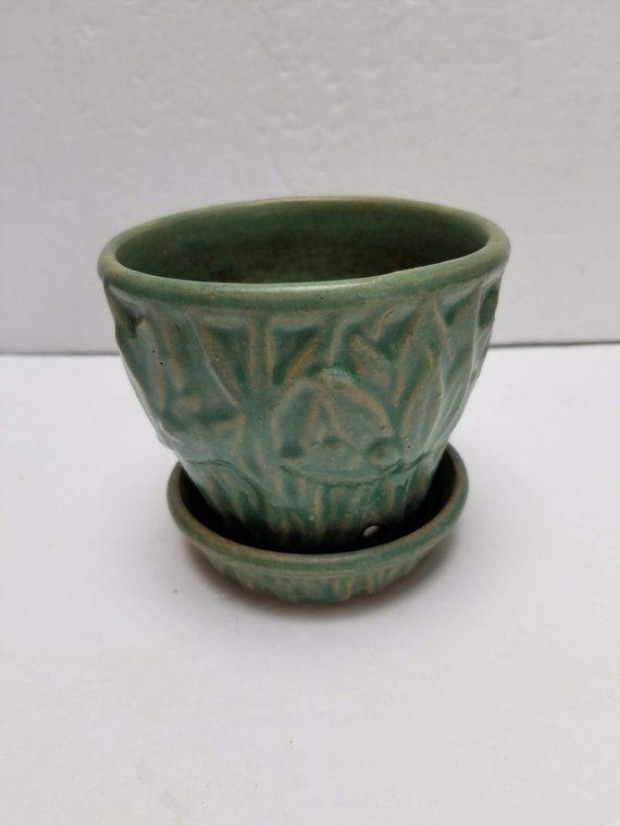 Vintage Mccoy Lotus Flower Pot Vintage Flower Pots Flower Pots Decorative Bowls