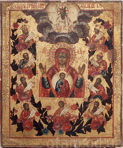 «Знамение» (украинская икона конец XVIII — начало XIX века)