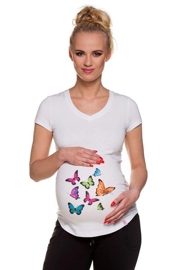 T shirt premaman Farfalle : http://www.mytummy.it/t-shirt-premaman-farfalle-ii-bianca.html