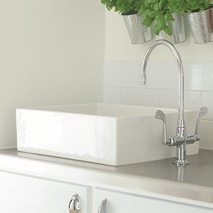 Kohler Rustique White Ceramic Single Bowl Belfast Sink