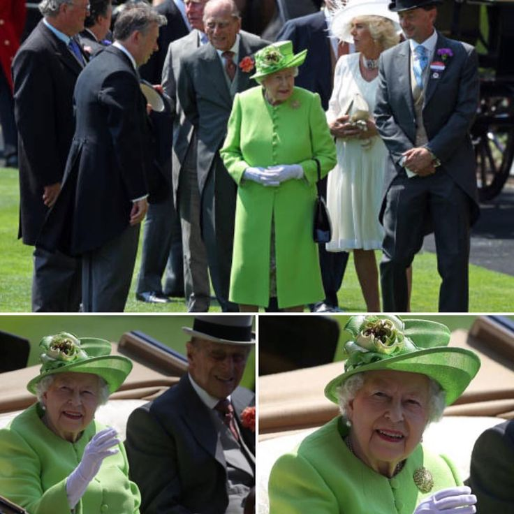 ROYAL ASCOT!! I'm pretty sure Her Majesty's ears were ringing when I made a comment the other day about that crazy neon green outfit she wore to Trooping The Colour in 2016.  So she decided to wear another bright green outfit to show me!  She really looks splendid in anything she wears!  #queenelizabeth #britishmonarchy #royalascot2017 #princephilip  via ✨ @padgram ✨(http://dl.padgram.com)