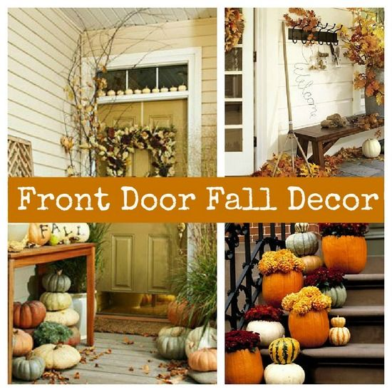 Front Door Fall Decor This Site Has Beautiful Decorating Ideas