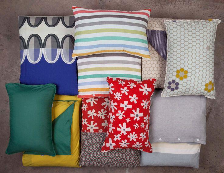 Cambia el look de tu dormitorio renovando las fundas de los almohadones. Es muy sencillo y práctico. Primavera - Verano 2016