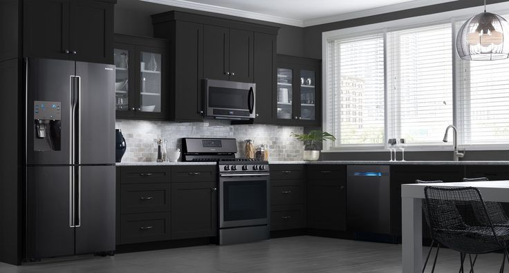 Black stainless steel, Stainless steel appliances and Appliances on
