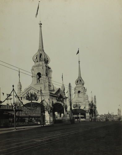 Photograph - 'The Princes Bridge & Flinders Street Railway Stations Towers', Melbourne, May 1901