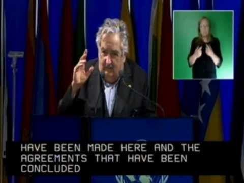 """Intervención Presidente Mujica en Río+20 """"El hombre no gobierna hoy las fuerzas que ha desatado, las fuerzas que ha desatado gobiernan al hombre"""""""