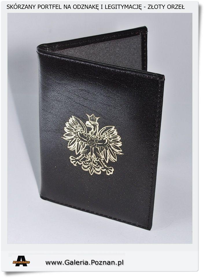 Skórzany portfel na odznakę i legitymację