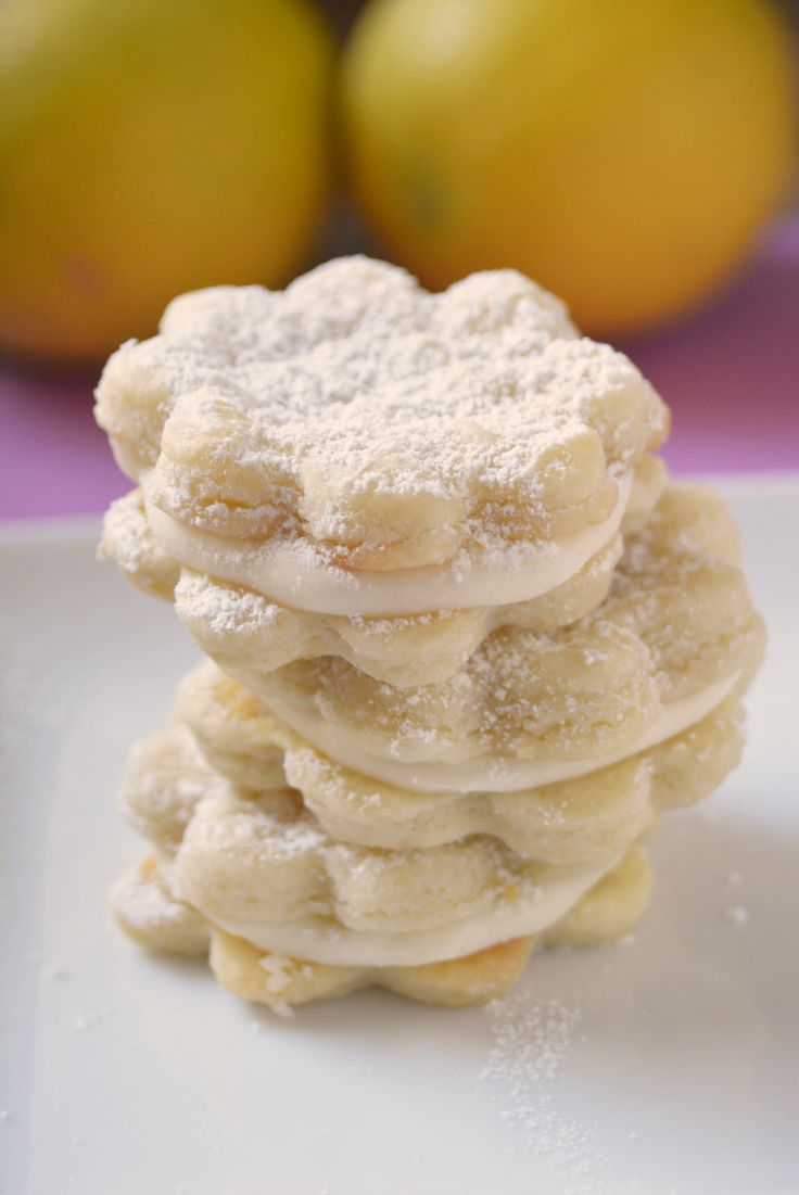 Lemon Pastry Cremes, Girl Scout cookie copycat recipe, Even better than the boxed ones!