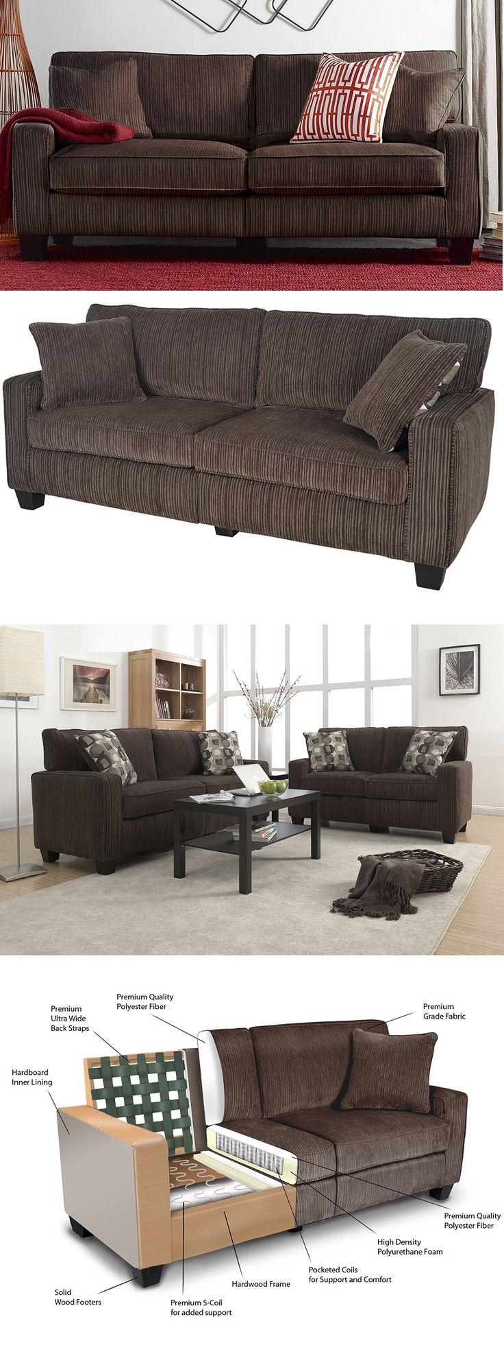 "Serta RTA Palisades Collection 78"" Sofa in Riverfront Brown #sofa #shopping  #Home #homedecor  #kitchendecor     #amazon #gift #house"