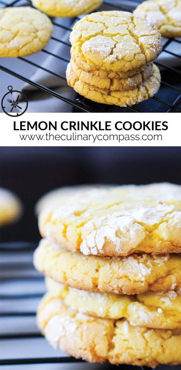 These Lemon Crinkle Cookies are so easy to make and are so delicious! I call that a win-win!