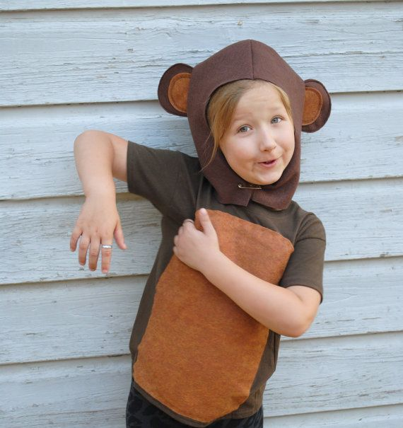 Handmade Monkey Costume Brown Halloween School Play Dress Up Gift Idea Jungle Book