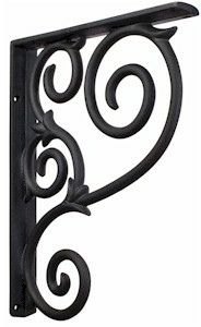 "MCOR1 Black Wrought Iron Metal Corbel Granite Countertop Support.  1.5"" x 10"" x 13.5"". $95.89"
