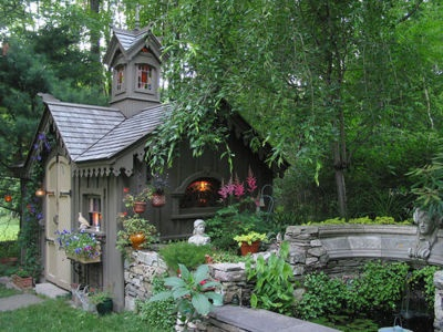 Charming cottage: Idea, Summer Gardens, Gothic Gardens, Guest House, Wendy House, Gardens House, Gardens Sheds, Gardens Cottages, Fairies Tales