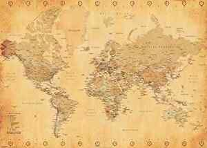 The 25 best giant world map ideas on pinterest best world map generic vintage world map maps giant poster print 55x39 wall decor ebay gumiabroncs Gallery