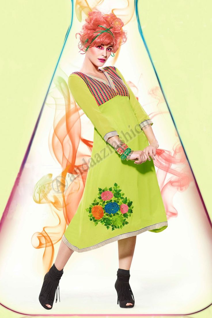 Vert Georgette Kurti Conception No. DMV12796 Prix- 44,15  Andaaz Fashion presente le nouveau concepteur de larrivee vert Georgette Kurti. Agrementee de Resham brode. Cette conception est parfaite pour le Parti, Festival, Casual.  @http://www.andaazfashion.fr/womens/kurti-tunic/green-georgette-kurti-dmv12796.html