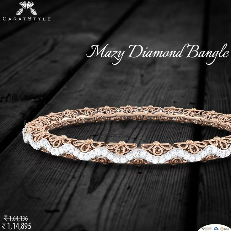 Get ready for fall in love with bangle! #diamond #bangles  #elegant #love #indianstreetfashion #style #stylis  #embrace #embracelove