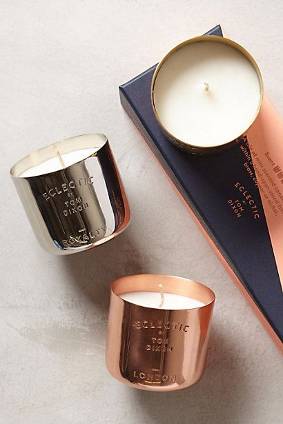 Festive, elegant and perfect for almost anyone on your list -- man or woman. Tom Dixon Eclectic Mini Candle Gift Set, anthropologie.com. -- Angela Salazar, deputy Style editor