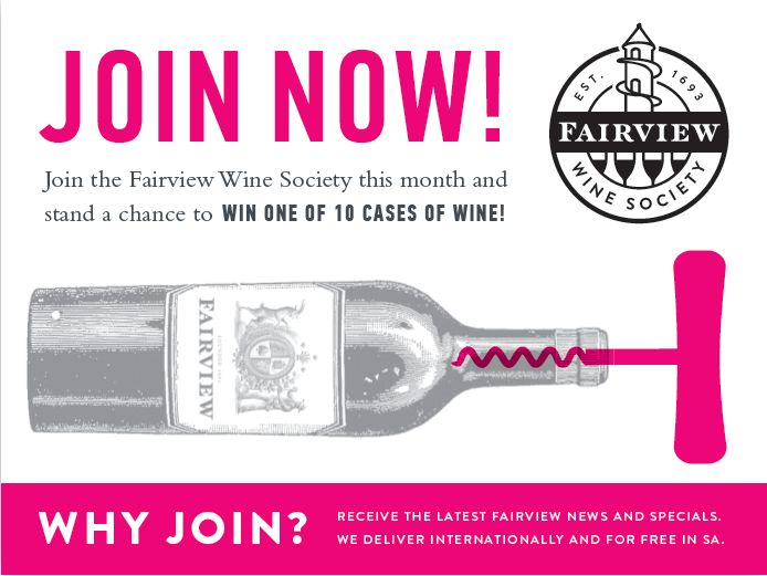 Yet to sign up!? Become a member of our wine club in partnership with our friends over at Yuppiechef. Receive our latest news, reviews and special offers on online purchases by visiting us on www.fairviewwinesociety.com ‪#‎FairviewWineSociety‬