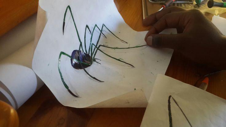 3D spider sketch