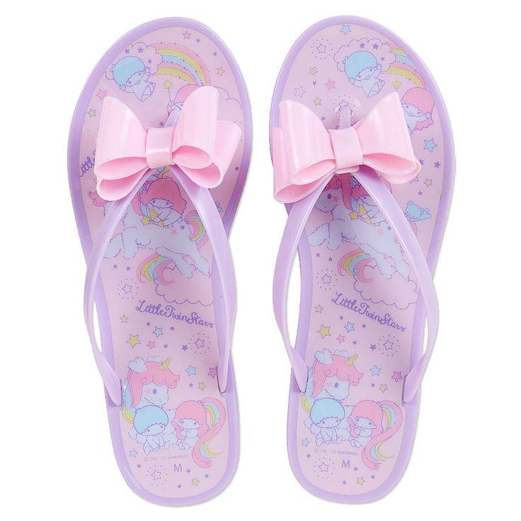 Little Twin Stars clear sandals