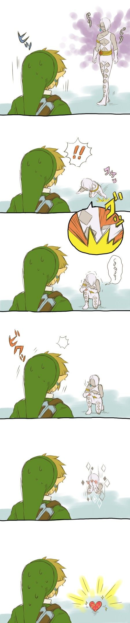 Get ready for the amazingly dangerous Lord Ghirahim!!! Oh wait, he's already dead?   I shouldn't be laughing at him but I am XD