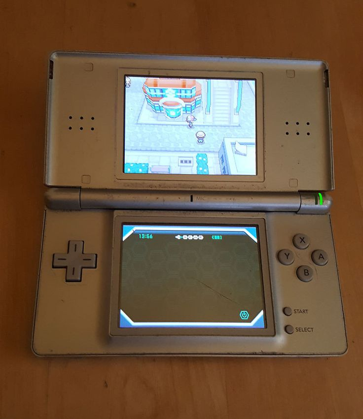 NINTENDO DS LITE SILVER GREY HANDHELD CONSOLE SYSTEM w/ POKEMON WHITE GAME