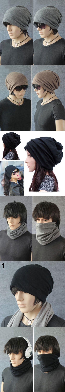 Bluelans Dual - use Hats Women Men Scarf Cool Fashion Slouch Winter Knit Scarf Hip-Hop Hats Ear cap